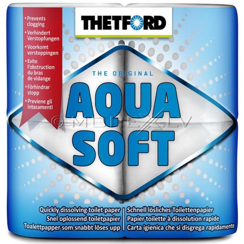 Легкорастворимая туалетная бумага - Thetford Aqua Soft 4 Pack
